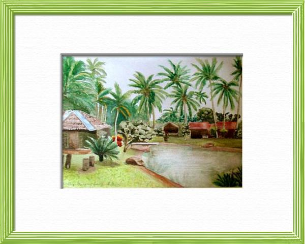 Cherating - Malaysia, Asia - World landscapes - , original framed watercolour, world travel diary, world watercolour