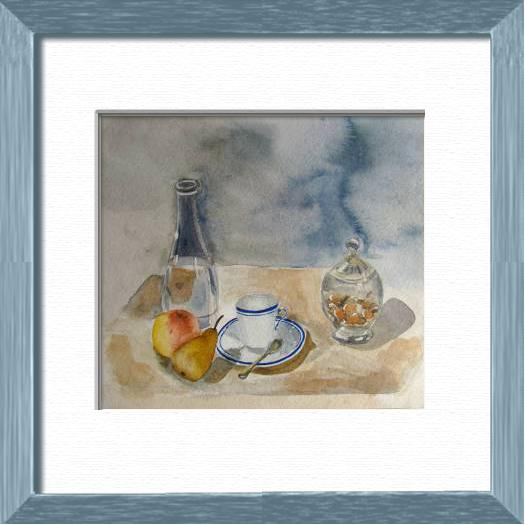 Tea time, Sweet time - , original framed watercolour, world travel diary, world watercolour